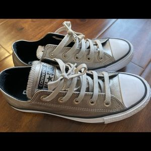 Converse metallic gold